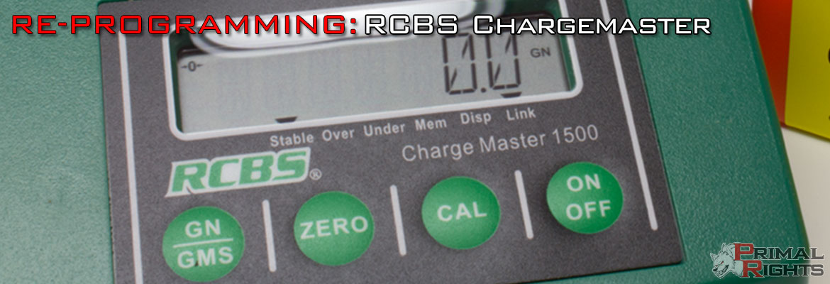 Re-Programming: RCBS Chargemaster Combo :: Primal Rights, Inc